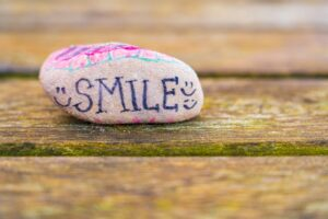 A Rock That Spells Out SMILE