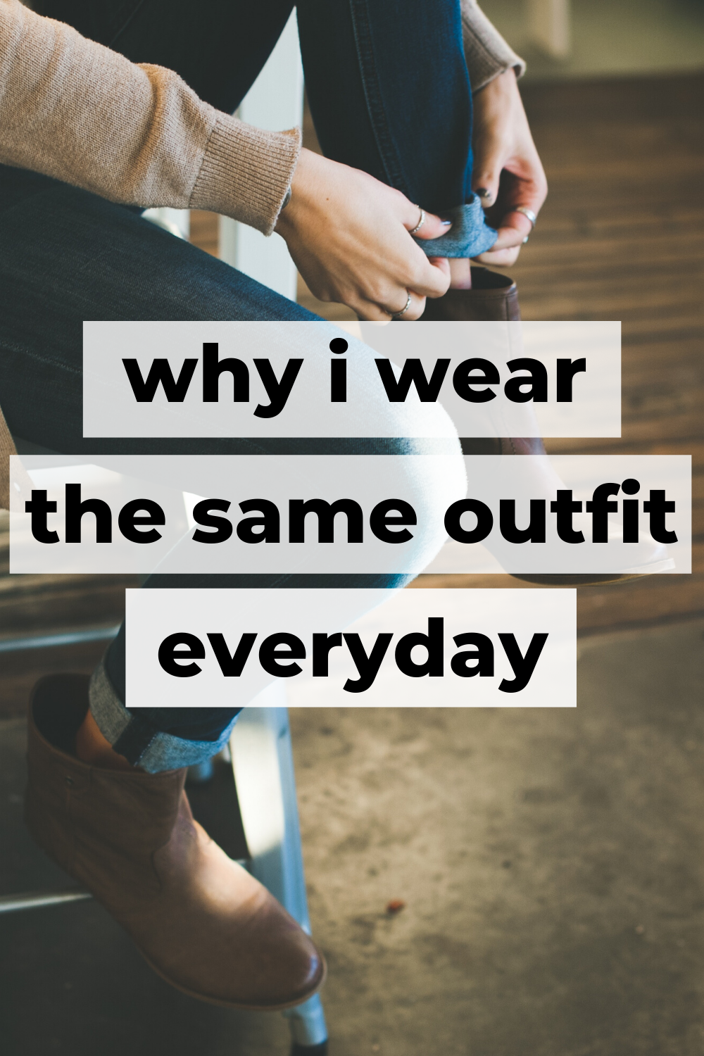 Pinterest Pin For Wearing Same Outfit 21 Days