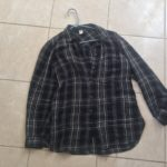 Black Striped Long-Sleeved Buttoned Shirt