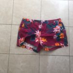 Red Shorts Dotted With Flowers