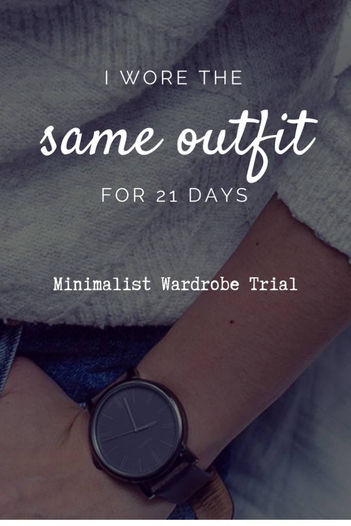 minimalist Capsule Wardrobe trial