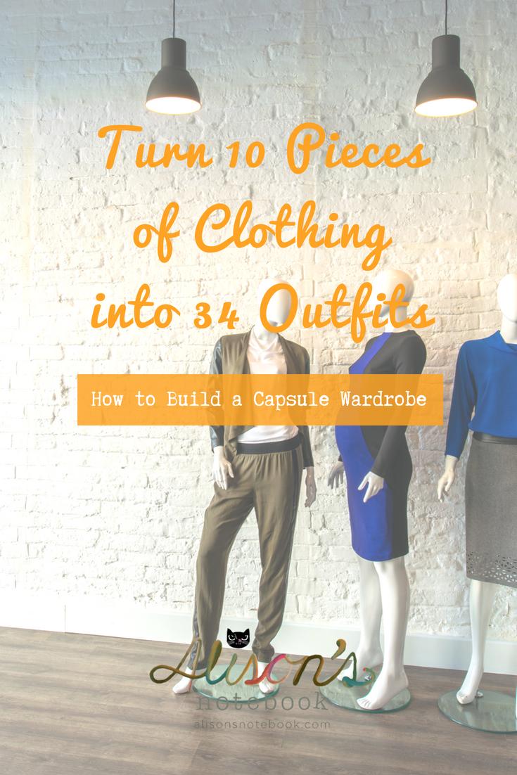 build a versatile minimal capsule wardrobe