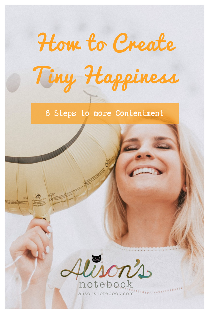 pinterest pin - create tiny happiness