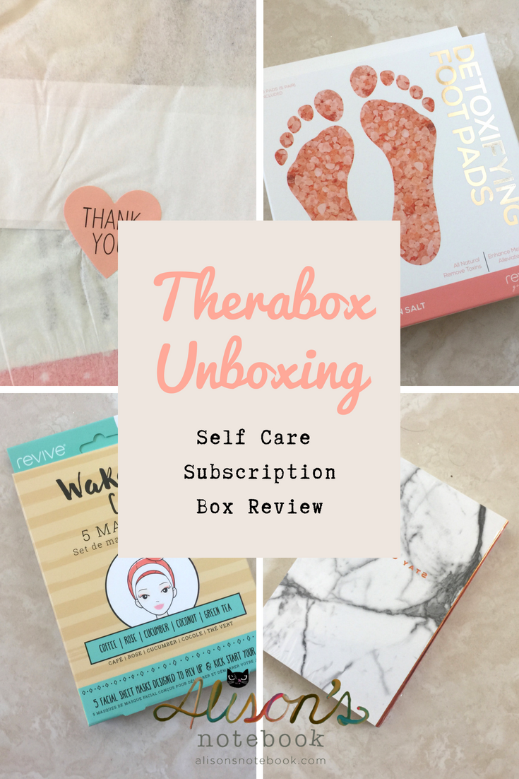 therabox unboxing // self care subscription box review image