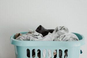 A bin full of laundry