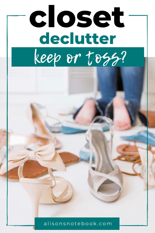 closet declutter tips
